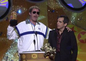 Will Ferrell and Ben Stiller at the MTV Movie Awards in 2001